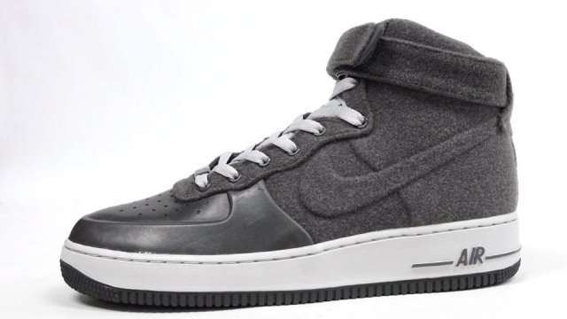 "new products 8968b 7c0f4 SneakerCrush  Nike Air Force 1 Vac Tech ""Grey Wool""   RedSequinedShoes"
